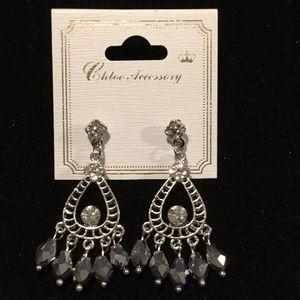 Chloe Accessory SilverTone Dangle Earrings